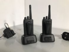 A pair of two way radios by kenwood NO RESERVE