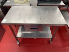 Mobile Stainless Steel Prep Station