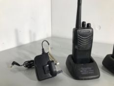 A pair of two way radios by kenwood