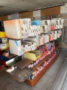 Large Qty Automotive Parts & Display Rack