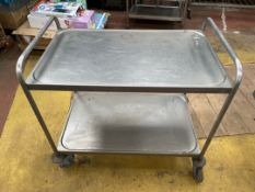 Stainless Steel Mobile Catering Trolley
