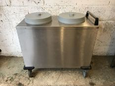 Mobile Containing double plate warmer