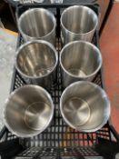 Stainless Steel Utensil Holders x 6