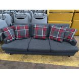 3 Seater Grey Fabric Sofa