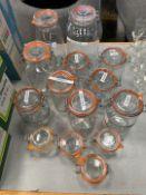 Selection Of Glass Storage Jars