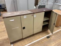 Storage Cabinets Double Door Shelved x 2