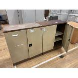 Storage Cabinets Double Door Shelved x 2