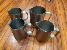 Stainless Steel Jugs x 4