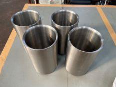 Stainless Steel Utensil Holders x 4
