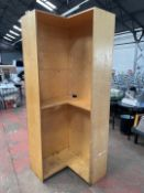 Wooden Corner Storage Unit