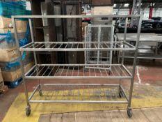 Stainless Steel Mobile Shelved Storage Rack