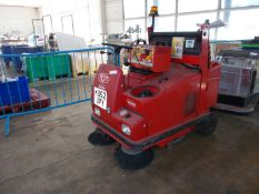 RCM battery electric ride on factory floor cleaner