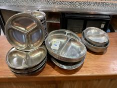 Selection Of Stainless Steel Serving Platters