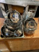 Selection Of Stainless Steel Curry Serving Dishes