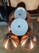 Copper Look Lampshades x 10