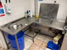 Stainless Steel Corner Sink Unit