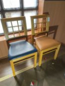 Wooden Chairs x 2