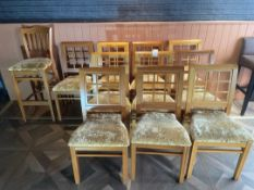 Wooden Chairs x 10