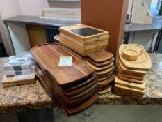Selection Of Wooden Serving Boards
