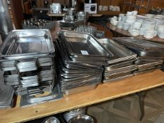 Qty Of Stainless Steel Baking /Serving Trays
