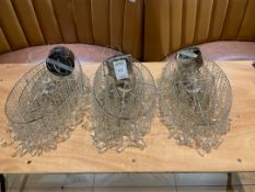 Decorative Crystal Style Droplet Lights x 3