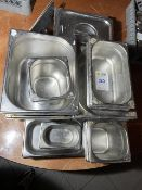 Qty Of Stainless Steel Serving Pots