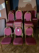 Metal Framed Stackable Chairs x 87