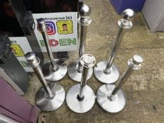 Stainless Steel Barrier Stands X 6