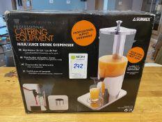 Boxed Sunnex Professional Milk/Juice Dispenser