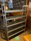 Metal Framed Shelved Storage Rack