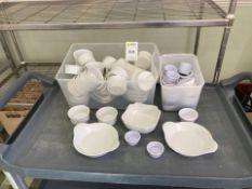 Cutlery trays, sugar bowls, sauce boats,