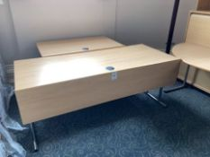 A quantity of Burgess conference tables complete