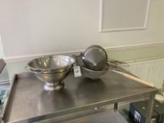 Sieves and colanders
