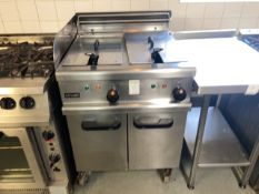 Lincat twin bath deep fat fryer