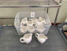 Cruet sets, milk jugs, cream jugs
