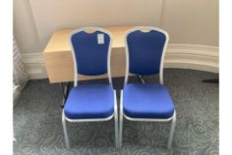 A quantity of Burgess stacking conference room chairs