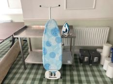 Ironing board and iron
