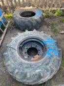 Miscellaneous Tyres x 2 & Rim x 1