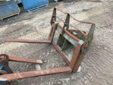 14 T Excavator Fork Attachment & Forks