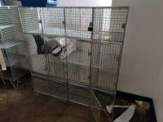 Wire cage locker