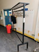 Garment hanging rail with hangers