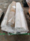 Pallet of rolled plastic conveyor