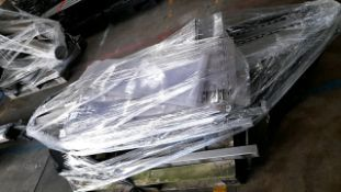 Pallet of machinery curtains and rails