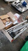 Machine parts in wooden box