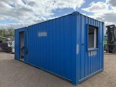 20ft Portable Office Site Cabin Welfare Unit Cante