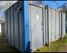 16ft 2 + 1 toilet block container cabin