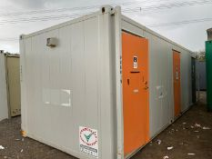 24ft 3 + 1 toilet + shower container welfare cabin block