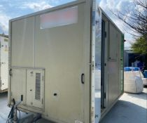 12ft 6 man towable welfare unit trailer with generator, canteen, drying room and toilet,