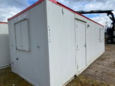 24ft static welfare unit site office canteen with changing room