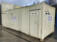 24ft x 9ft Anti-Vandal Decontamination Unit Shower Block Welfare Site Container